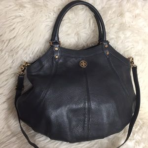 🌸OFFERS?🌸Tory Burch All Leather Black Satchel